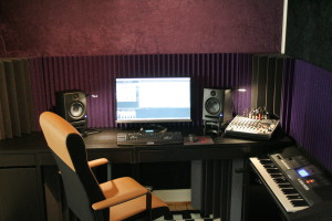 Close-up of mixing position