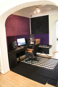Studio as seen from the living room
